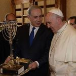 Benjamin Netanyahu and Pope Francis