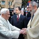 Pope Benedict and chief Rabbi of Rome Riccardo di Segni