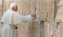 Pope Benedict at the Wailing Wall