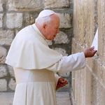 Pope John Paul II at the Wailing Wall