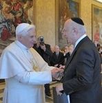 Pope Benedict and Rabbi Arthur Schneier in the Vatican
