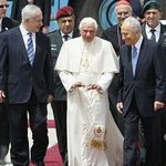 Pope Benedict's arrival at Ben Gurion Airport