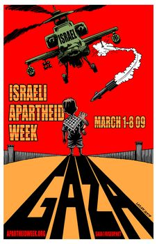 Poster for 'Israel Apartheid Week' in 2009