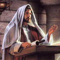 Jesus reading the Torah