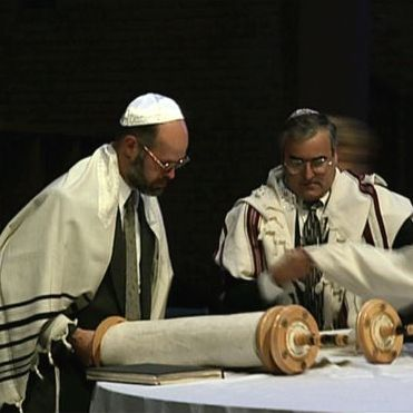 Jews studying the Torah