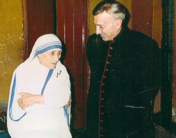 Monsignor John Esseff and Mother Teresa