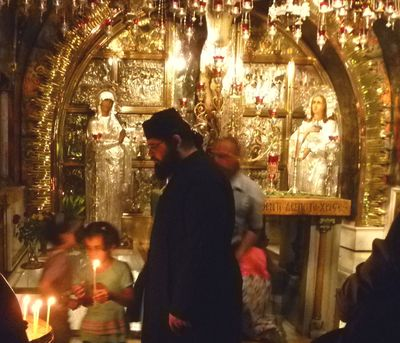 Orthodox Monk in the Church of the Holy Sepulchre