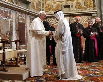Pope Francis meets a Muslim