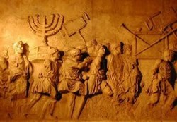 Romans carrying away the menorah from the Temple
